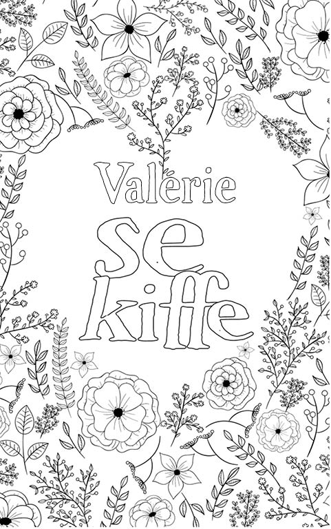coloriage adulte anti stress personalisé avec prénom Valérie