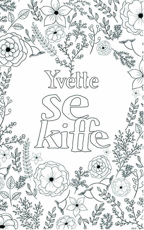 coloriage adulte anti stress personalisé avec prénom Yvette