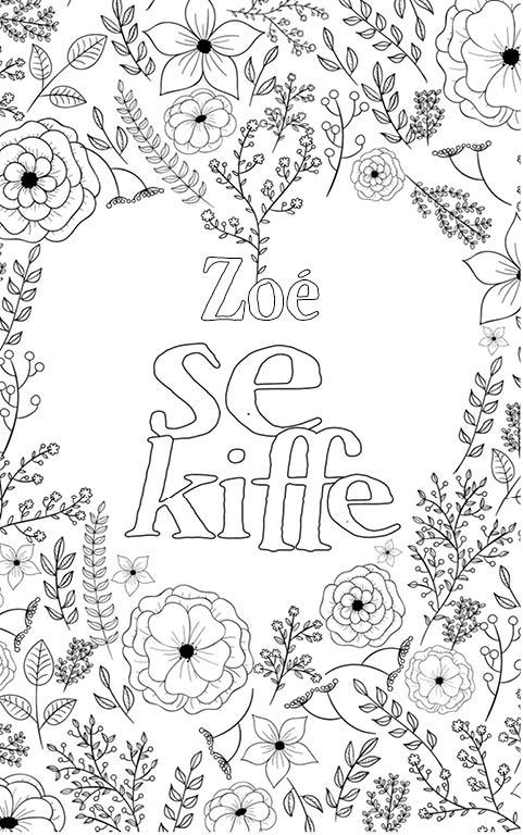 coloriage adulte anti stress personalisé avec prénom Zoé